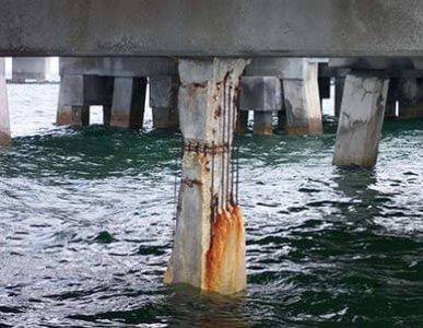 corrosion in concrete